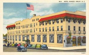 SHELBY, NC North Carolina  HOTEL CHARLES  Roadside CLEVELAND CO c1940's Postcard