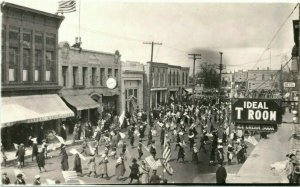 c1910 Crystal Lake Illinois IL Downtown July 4th Parade RPPC Photo Postcard