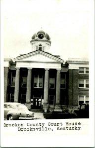 Vtg Postcard RPPC 1940s Brooksville Kentucky KY - Bracken County Court House UNP