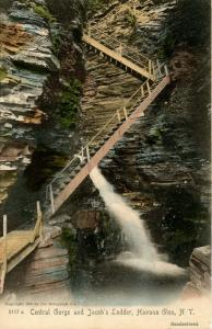 NY - Havana Glen. Central Gorge and Jacob's Ladder
