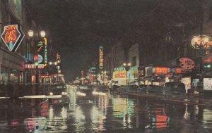 LONDON , Ontario , Canada , 50-60s ; Dundas Street at night