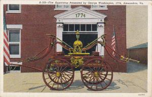 Fire Apparatus Presented By George Washington 1774 Alexandria Virginia Curteich