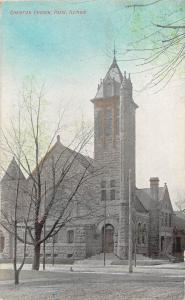 Illinois Il Postcard c1910 PARIS Christian Church Building