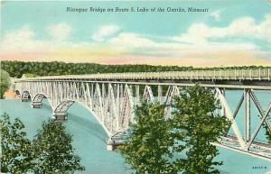 MO, Lake of the Ozarks, Missouri, Niangua Bridge, Route 5, Curteich
