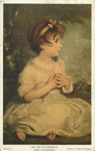 The Age of Innocence by Reynolds art postcard