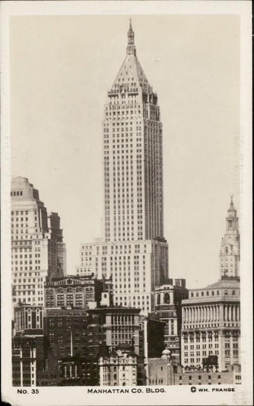 Manhattan Co. Building New York real photo