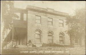 Ontario - Odd Fellows Orhanage Orphans Home 1921 Real Photo Postcard