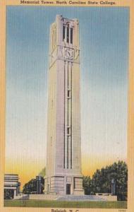 North Carolina Raleigh Memeorial Tower North Carolina State College