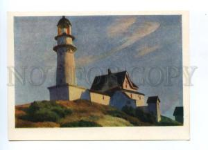 133439 USSR Lighthouse at Two Lights by Edward HOPPER old pc