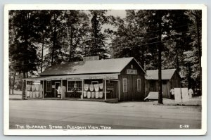 Pleasant View Tennessee~The Blanket Store~Roadside Trading Post~1940s RPPC