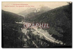 Old Postcard Picturesque Auvergne Lioran General view and Puy Griou
