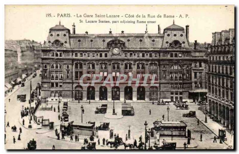 Paris - 8 - La Gare St Lazare - Approval of the Rue de Rome - Old Postcard