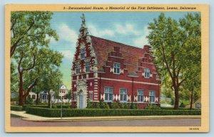 Postcard DE Lewes Delaware Zwaanendael House Memorial First Settlement c1950s X5