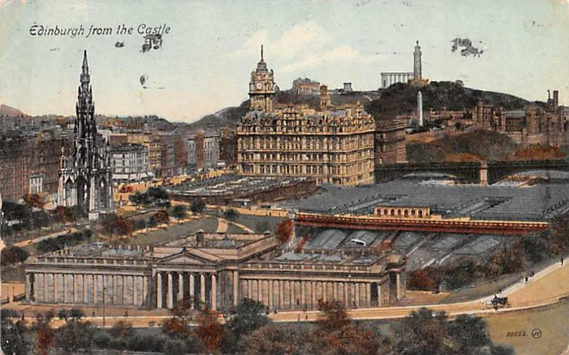 Scotland, UK Old Vintage Antique Post Card Edinburgh from the Castle 1918
