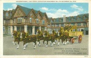 1932 International Live Stock Exposition Chicago Union Stockyard Six Horse Team