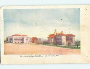 Pre-1907 ANTLERS HOTEL Colorado Springs Colorado CO Q7379