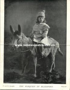 Marquess of Blandford, John Spencer-Churchill (?) (1902) Double Postcard
