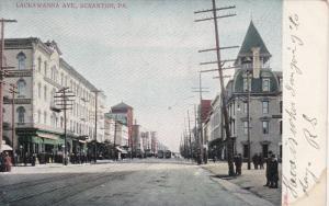SCRANTON, Pennsylvania, 1900-1910s; Lackawanna Avenue