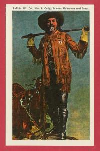Buffalo Bill Cody Postcard Scout Rest Ranch Nebraska