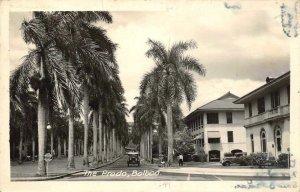 RPPC The Prado, Balboa, Fort Cayton, Panama Canal Zone 1949 Vintage Postcard