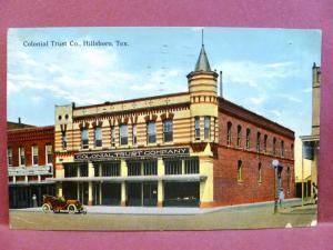 Postcard TX Hillsboro Colonial Trust Company