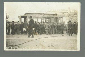 Aberdeen SOUTH DAKOTA RP 1910 FIRST STREETCAR 1st Trolley CROWD Street Car