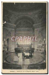 Old Postcard Dreux Interior of the Chapel Saint Louis