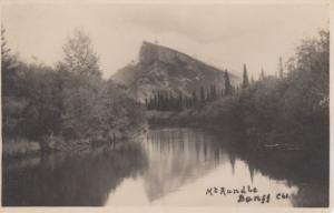 RP BANFF , Alberta , Canada , 1910-20s ; Mt Rundle