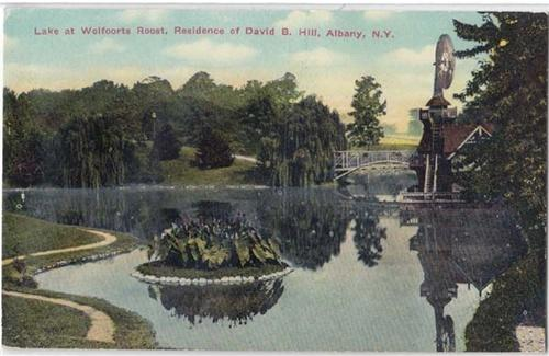 Lake at Wolfoorts Roost, Residence of David B. Hill, Albany