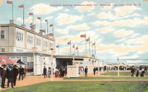 Oklahoma City~State Fair Exposition Building~Information Booth~KATY Trains~1910