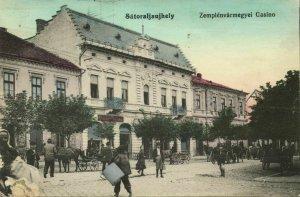 hungary, SÁTORALJAÚJHELY, Zemplénvármegyei Casino (1915) Postcard
