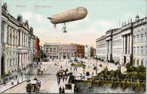 Zeppelin Berlin Germany Schlossplatz Unused Postcard E81