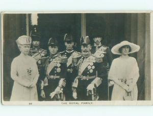 rppc 1923 THE ROYAL BRITISH FAMILY IN ENGLAND UK AC8151