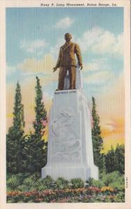 Louisiana Baton Rouge Huey P Long Monument 1955 Curteich