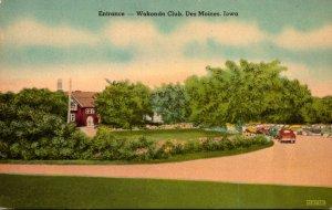 Iowa Des Moines Wakonda Club Entrance 1949