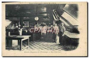 Old Postcard department stores Printemps Paris Kitchens