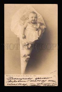 016773 BABY Newborn ancient packing Vintage PHOTO Hans Zivny