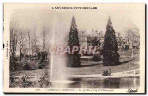 Clermont Ferrand - Le Jardin Lecoq and & # 39Universite - Old Postcard