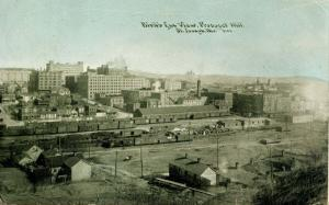 MO - St Joseph. Bird's Eye View from Prospect Hill, circa 1909