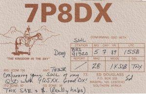 Lesotho South Africa Rare QSL Radio Card
