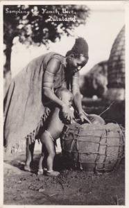 RP, Sampling The Family Beer, Zulu Woman & Child, Zululand, South Africa, 1...