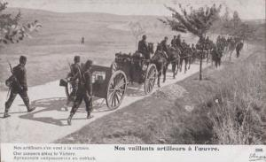 Our Gunners Going To Victory French WW1 Military Postcard