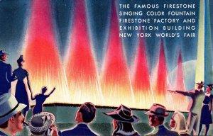 New York World's Fair 1939 The Famous Firestone Singing Color Fountain