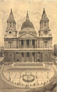 Postcard England London early XX century St Paul's Cathedral