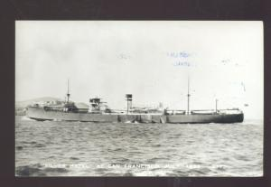 RPPC UNITED STATES NAVY MILITARY SHIP USS SILVER HAZEL SAN FRANCISCO POSTCARD