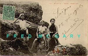 1906 Doson French Indo-China PC: Female Fisherwomen, TCV