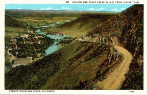 Colorado Denver Mountain Parks Golden and Clear Creek Valley From Lariat Trai...