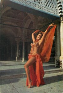 Tunisian type dancer ethnic Tunisia postcard