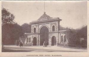 Corporation Park Gates, Blackburn (Lancashire), England, UK, 1900-1910s