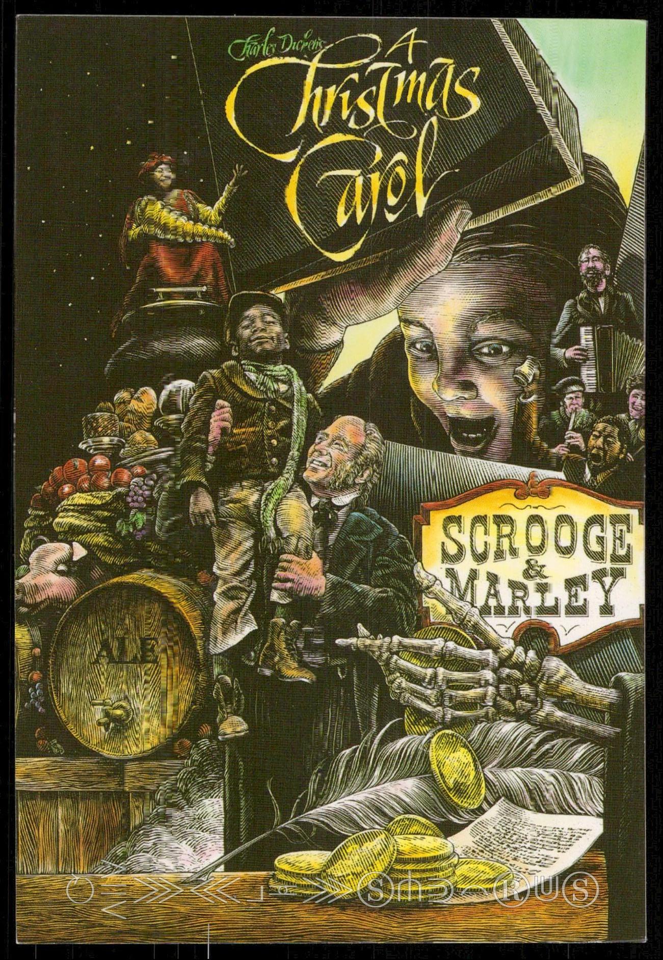 Christmas Carol Scrooge And Marley.Charles Dickens Christmas Carol Scrooge Marley Hippostcard